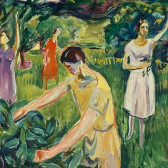Edvard Munch: Four women in the garden, 1926. Photo credit: Edvard Munch: Four women in the garden, 1926
